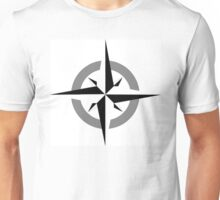 Vintage Black and White Compass Unisex T-Shirt