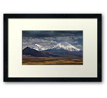 Twin Volcanoes Framed Print
