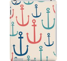 Cute doodle anchors. Nautical symbols.  iPad Case/Skin