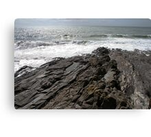 Rock Pools Porthleven Canvas Print