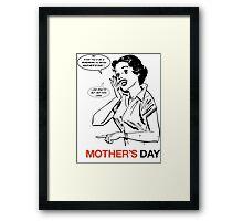 Mad Men Mother's Day Card Framed Print