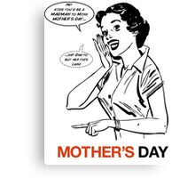 Mad Men Mother's Day Card Canvas Print