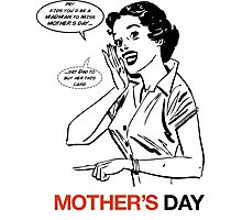 Mad Men Mother's Day Card Photographic Print