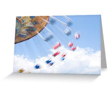 Boardwalk Swings Greeting Card