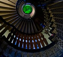 Spiral staircase with green roof glass by JBlaminsky