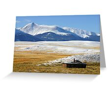 Serene Isolation in Colorado Greeting Card