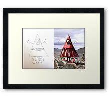 Triangle Man (Monster Engine Style) Framed Print