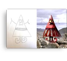 Triangle Man (Monster Engine Style) Canvas Print