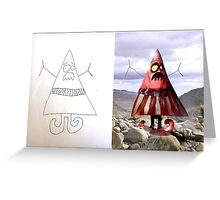 Triangle Man (Monster Engine Style) Greeting Card
