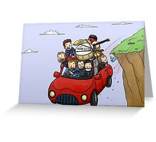 the horne section; cliff Greeting Card