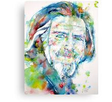 ALAN WATTS - watercolor portrait Canvas Print