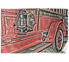 Vintage Fire Engine Poster