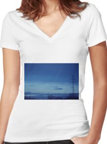 Wires Women's Fitted V-Neck T-Shirt