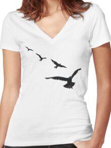 Flock Women's Fitted V-Neck T-Shirt
