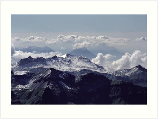 Heavenly view, Bernese Alps by Lenka