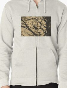 Branches Zipped Hoodie