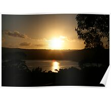 Sunset over Narrabeen Lakes, Narrabeen  Poster