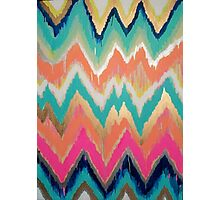 Modern Bright Chevron Zig Zag Stripe Pattern Photographic Print