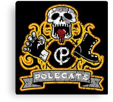 Polecats Patch Distressed Canvas Print