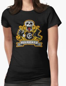 Polecats Patch Distressed Womens Fitted T-Shirt
