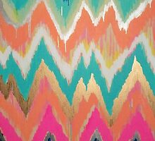 Modern Bright Chevron Zig Zag Stripe Pattern by sale