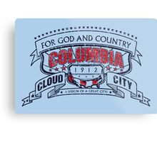 Columbia City Distressed Metal Print