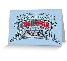 Columbia City Distressed Greeting Card