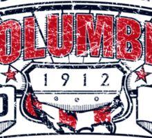Columbia City Distressed Sticker