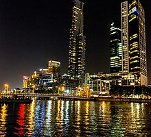 Southbank lights by collpics