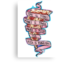 Pizza is Knowledge CutOut Canvas Print