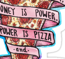 Pizza is Knowledge CutOut Sticker