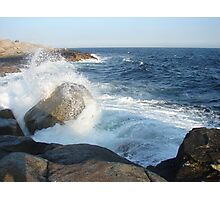 Waves Crashing at Peggy's Cove Photographic Print