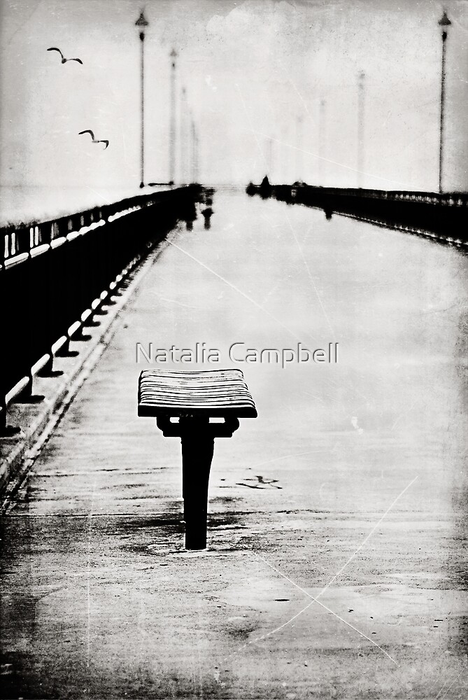With thoughts of past and future mixed... by Natalia Campbell