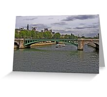 Tourists on the Seine Greeting Card