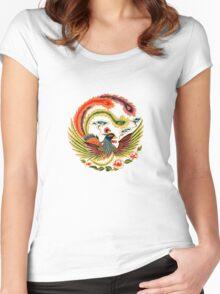 Asian Art Chinese Phoenix Women's Fitted Scoop T-Shirt
