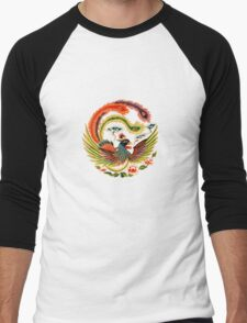 Asian Art Chinese Phoenix Men's Baseball ¾ T-Shirt