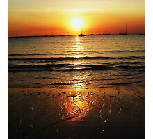 Sunset Gold Photographic Print