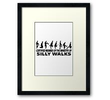 Certified Member Of The Ministry Of Silly Walks Framed Print
