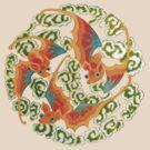 Asian Art Celestial Bats by Zehda
