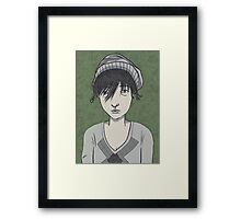 frowny mcgee Framed Print