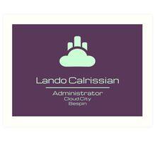 Lando Calrissian - Star Wars Art Print
