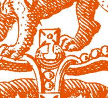 Lion & Crown Heraldry Blazon Sticker