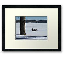 Snow Kidding Framed Print