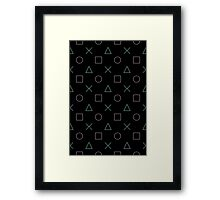 Game Buttons Framed Print