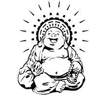 Sunburst Happy Buddha Photographic Print