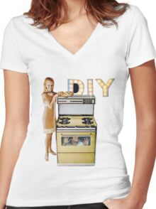DIY. Women's Fitted V-Neck T-Shirt