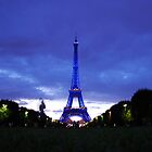 Eiffel en bleu by Michael Lane