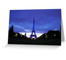 Eiffel en bleu Greeting Card
