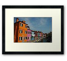 Burano Houses Framed Print