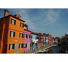 Burano Houses Photographic Print